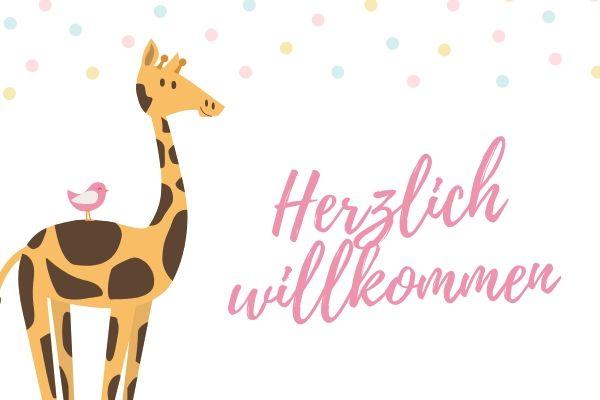 ドイツ語で出産祝いのメッセージカードを書く