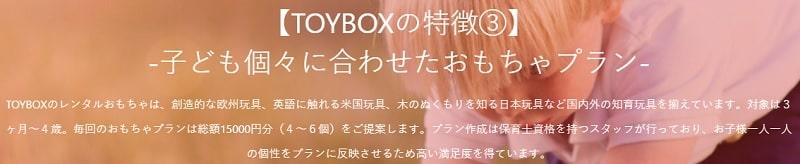 TOYBOX(トイボックス)の特徴やレビュー・保育資格を持った人がおもちゃを選定する
